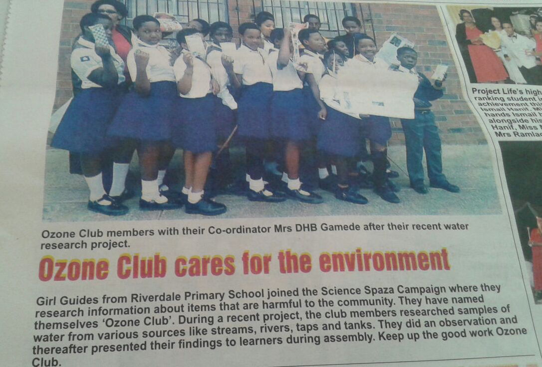 Science Spaza - Club News  2016 - Ozone Club Newspaper article.jpg
